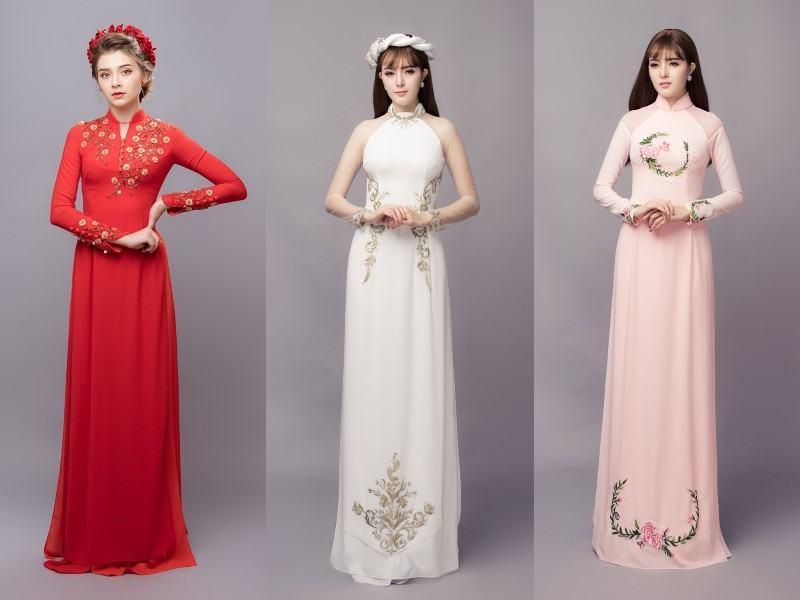 Lưu ý khi lựa chọn màu sắc quần để kết hợp với áo dài cưới đơn giản Marry