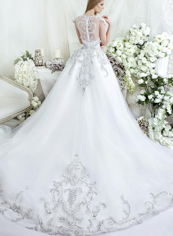Váy cưới sang trọng đính đá Marry
