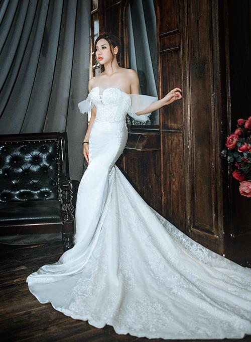 Váy cưới đơn giản sang trọng đuôi cá 5 Marry
