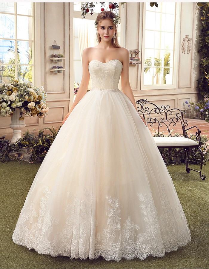 Váy cưới sang trọng cúp ngực 2 Marry