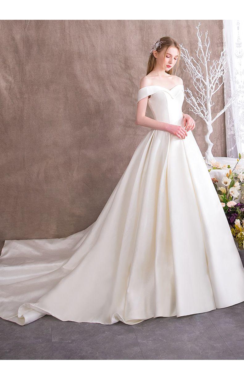Đầm cưới trắng đơn giản Marry