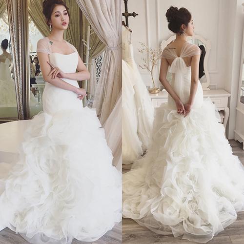 Váy cưới đơn giản sang trọng thắt nơ 4 Marry