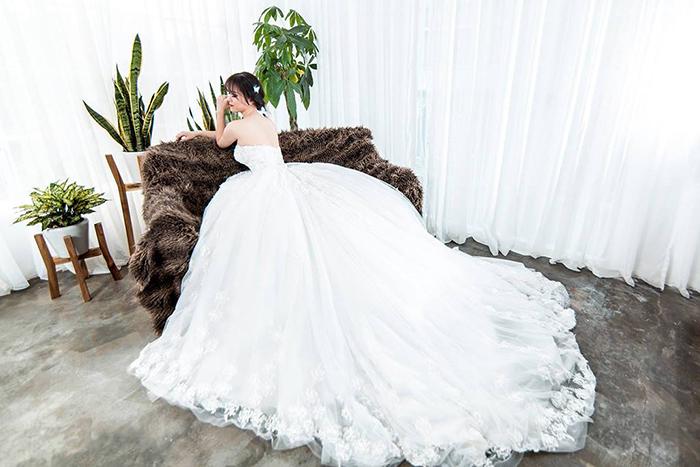 Váy cưới đơn giản sang trọng cúp ngực 3 Marry