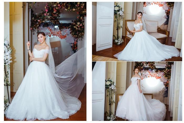 Váy cưới đơn giản sang trọng trễ vai 2 Marry