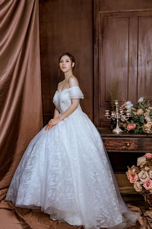Váy cưới đơn giản sang trọng công chúa 3 Marry