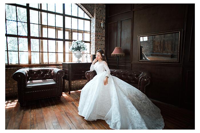 Váy cưới đơn giản sang trọng công chúa 5 Marry