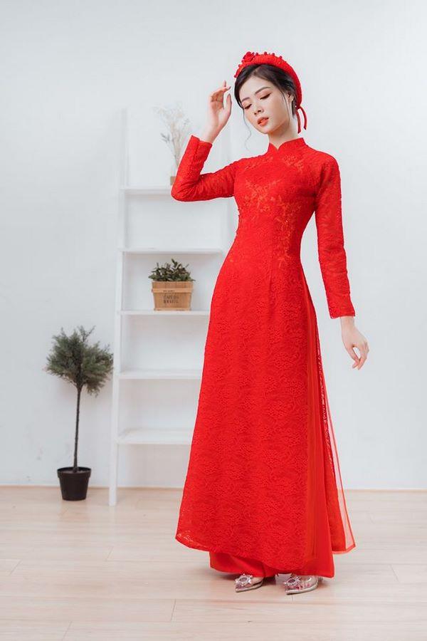 9mẫu áo dài cưới đẹp đơn giản cho các cô dâu nhẹ nhàng, nữ tính Marry