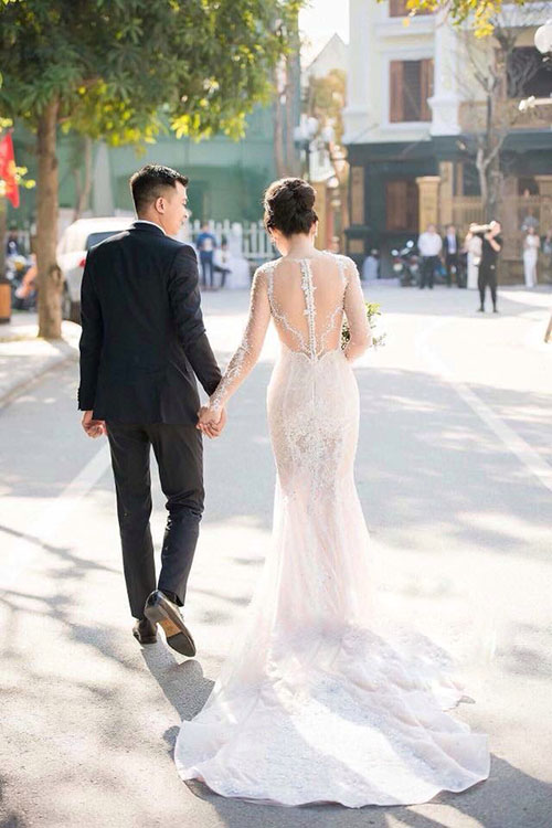 Váy cưới đơn giản sang trọng đuôi cá 4 Marry