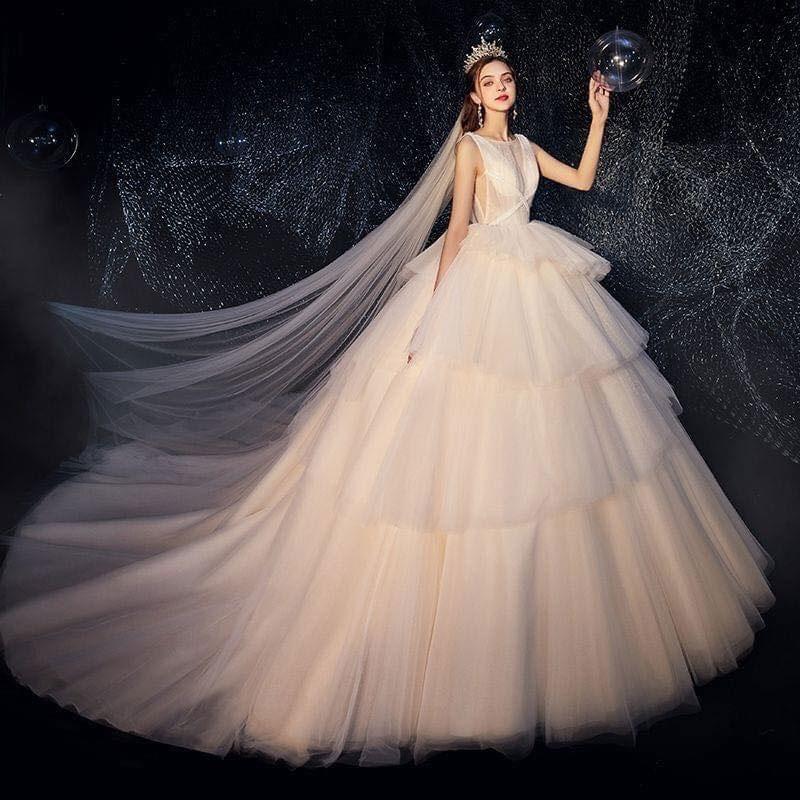 Váy cưới đơn giản sang trọng công chúa Marry