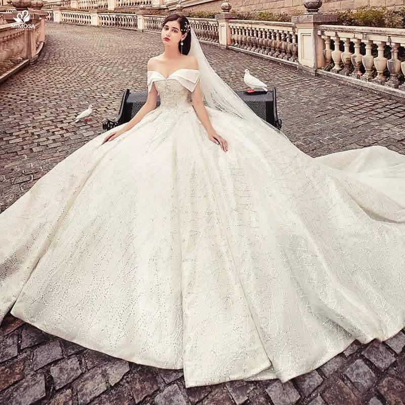 váy cưới đơn giản sang trọng Marry