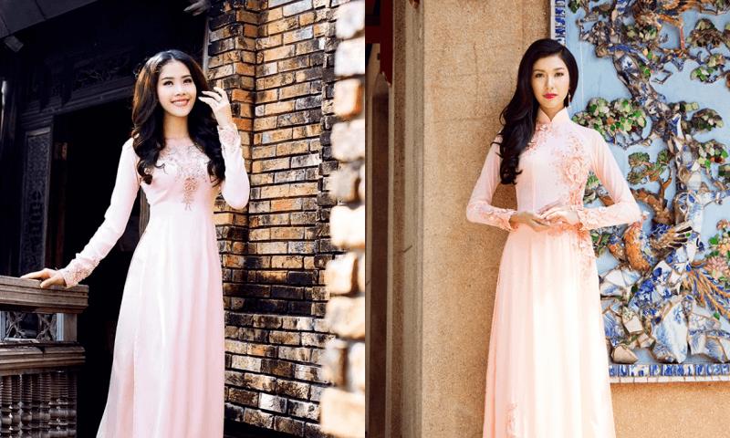 Mẫu áo dài cô dâu màu pastel ngọt ngào 2 Marry