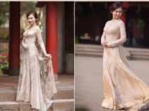 Những mẫu áo dài cô dâu giúp bạn trở nên thật duyên dáng trong ngày cưới