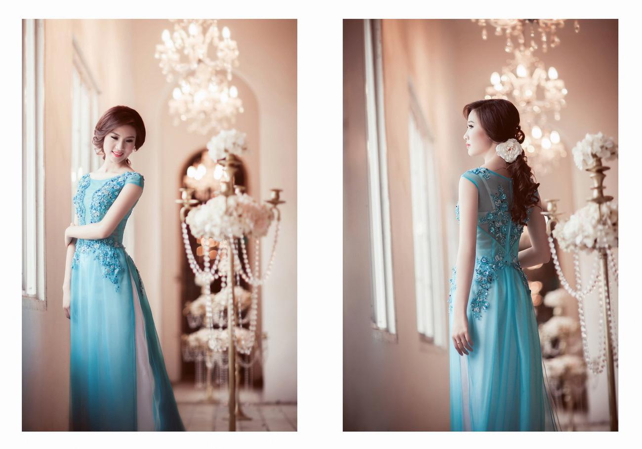 Những mẫu áo dài cô dâu giúp bạn trở nên thật duyên dáng trong ngày cưới Marry