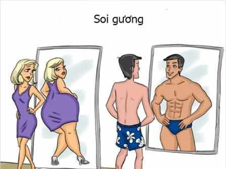 Cười bò với loạt ảnh sự khác biệt giữa phụ nữ và đàn ông: Chuẩn không cần chỉnh