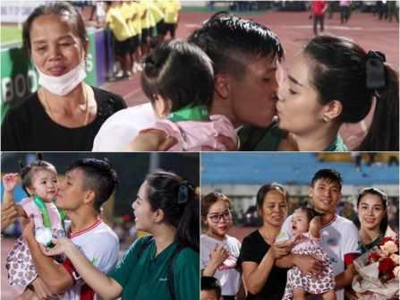 Hot: Bùi Tiến Dũng hôn Khánh Linh say đắm trước hàng nghìn khán giả