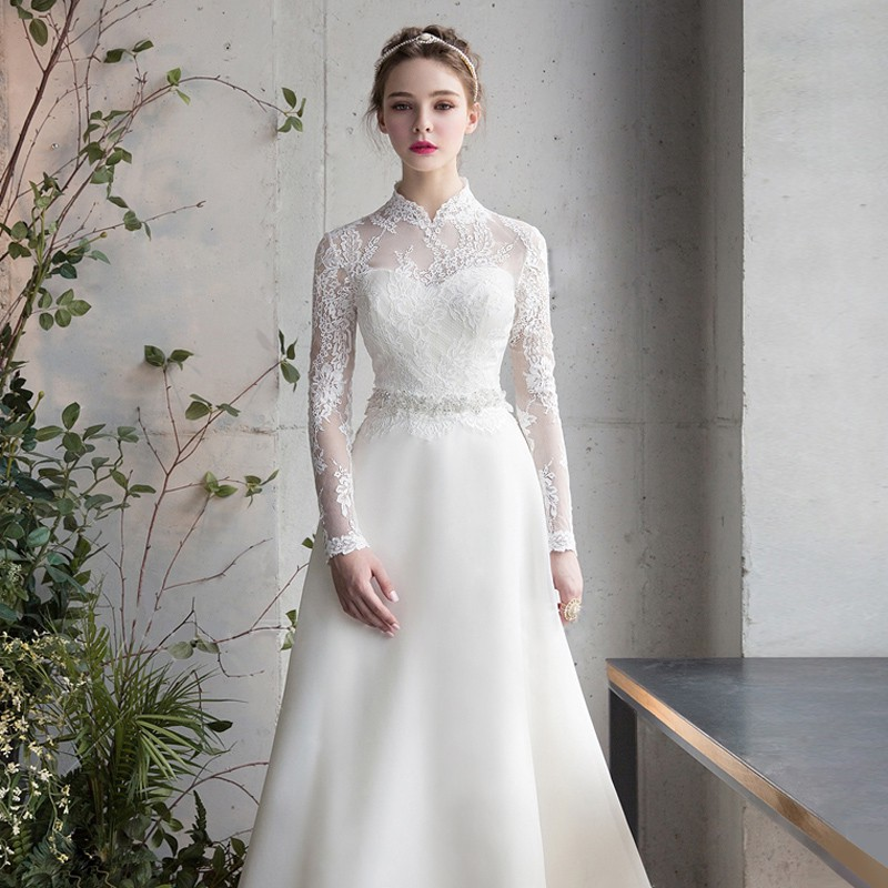 Váy cưới đơn giản sang trọng cổ điển 3 Marry