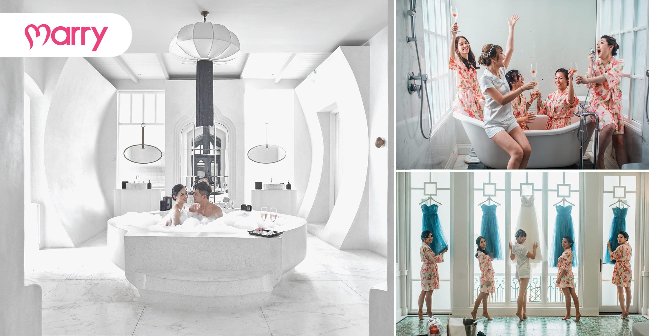 Hình ảnh trải nghiệm của cặp đôi tại JW Marriott Phu Quoc Emerald Bay Resort & Spa